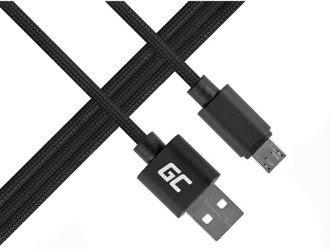 Green Cell kabel microUSB nylon 1m QC