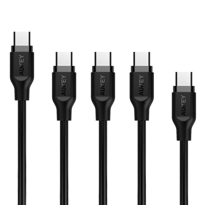 AUKEY CB-CMD5 zestaw kabli PCV 5x USB-C QC 3.0