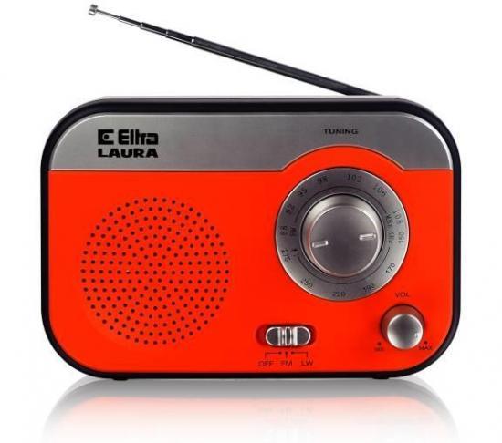 ELTRA Przenośne radio FM / LW LAURA srebrne