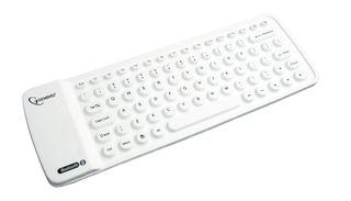 Gembird elastyczna silikonowa mini klawiatura Bluetooth, USB, US layuot, Biała