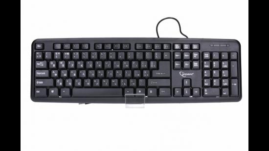 Gembird klawiatura standard USB, czarna, Cyrylica